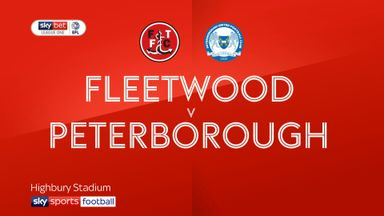 Fleetwood 1-1 Peterborough