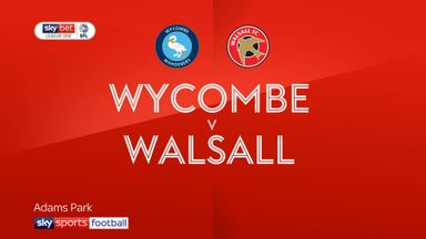 Wycombe 1-0 Walsall