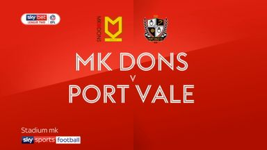 MK Dons 1-1 Port Vale