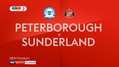 Peterborough 1-1 Sunderland