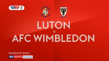Luton 2-2 AFC Wimbledon