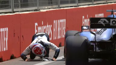 Drain cover wrecks Russell's Williams