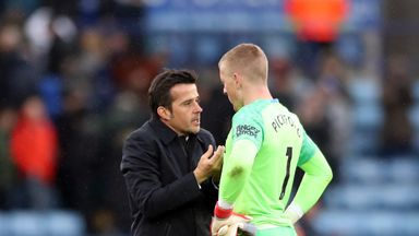 Silva 'not happy' with Pickford