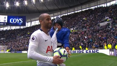 Moura celebrates hat-trick with son