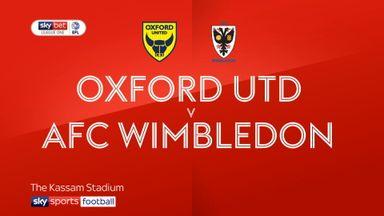 Oxford United 0-0 AFC Wimbledon