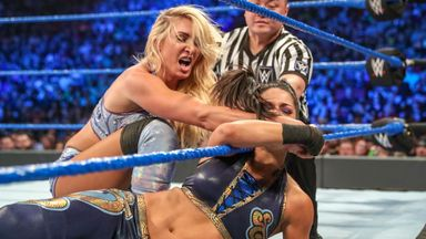 Bayley and Flair fight for title opportunity
