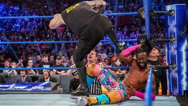 Kevin Owens assaults Kofi Kingston & Xavier Woods
