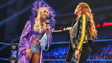Becky Lynch and Charlotte Flair come face to face