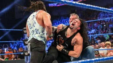 Shane McMahon & Elias attack Roman Reigns