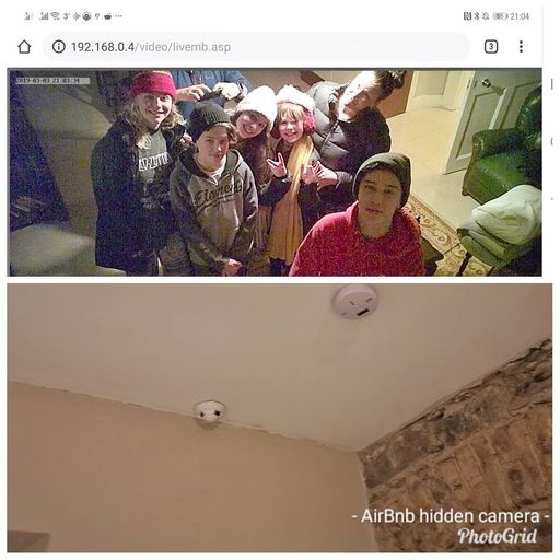 Family discovers hidden camera livestreaming in Airbnb