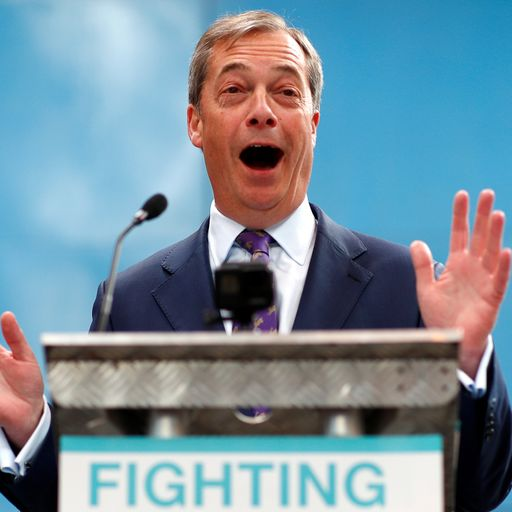 Nigel Farage claims electorate 'betrayed' as he launches new party