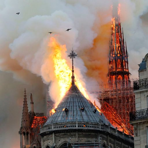 Firefighters 'may not be able to save Notre-Dame'