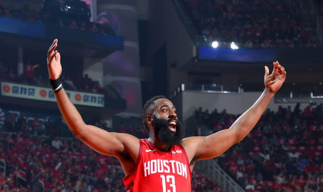 James Harden posts triple-double to lead Houston Rockets to Game 2 rout of Utah Jazz