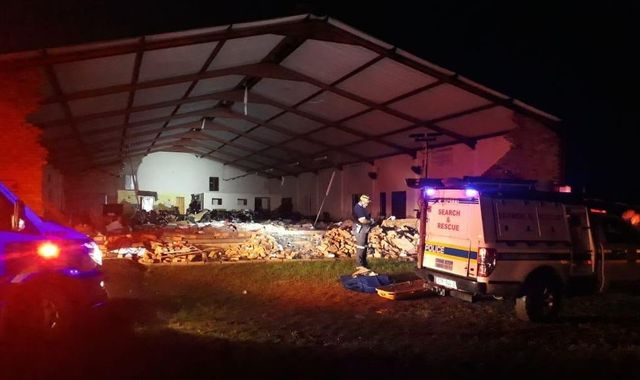 At least 13 killed as church wall collapses during Easter service in South Africa