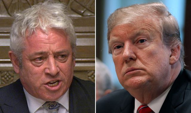 John Bercow urged to lift parliament ban on Donald Trump ahead of state visit