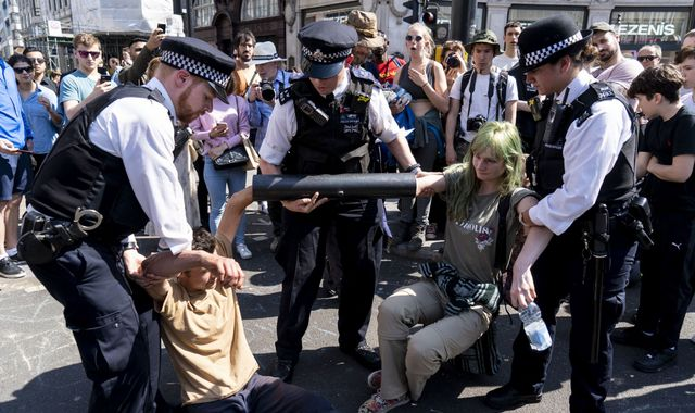 Extinction Rebellion: Met chief condemns 'miserable disruption' caused by protests