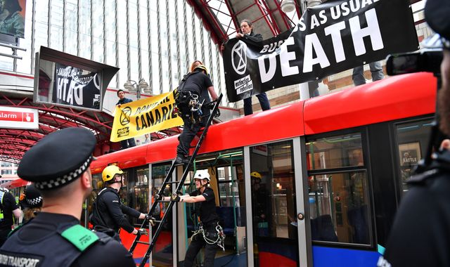 Extinction Rebellion activists disrupt City in fresh protests