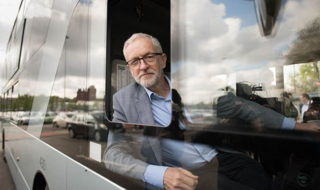 Jeremy Corbyn pledges to reverse cuts to thousands of bus routes