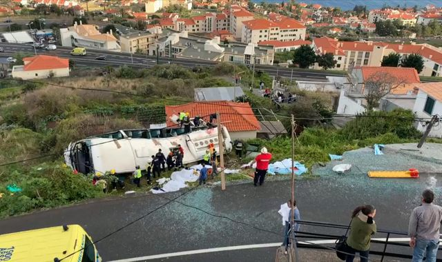Madeira: 29 dead as tourist coach overturns on Portuguese island