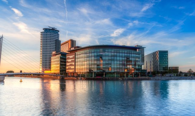 Body found in water near BBC headquarters at Media City, Salford