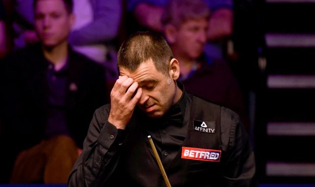 World number one snooker player Ronnie O'Sullivan beaten by amateur James Cahill