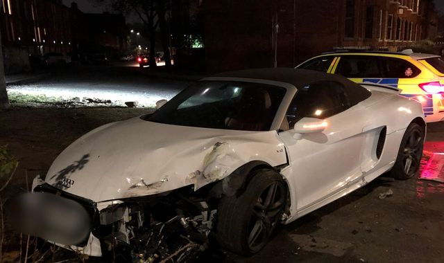 Driver flees after crashing £130,000 supercar in Greater Manchester
