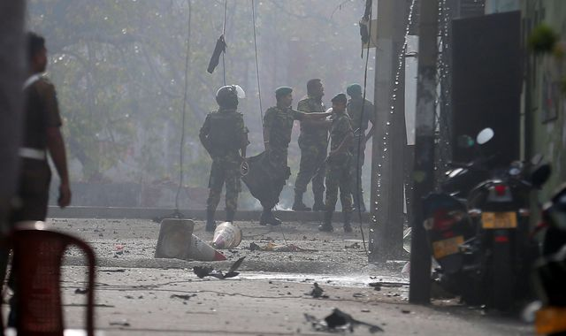 Sri Lanka explosions: Emergency powers imposed as police say international network involved