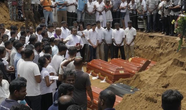 Sri Lanka: Family's heartbreak as son is buried in mass grave for attack victims