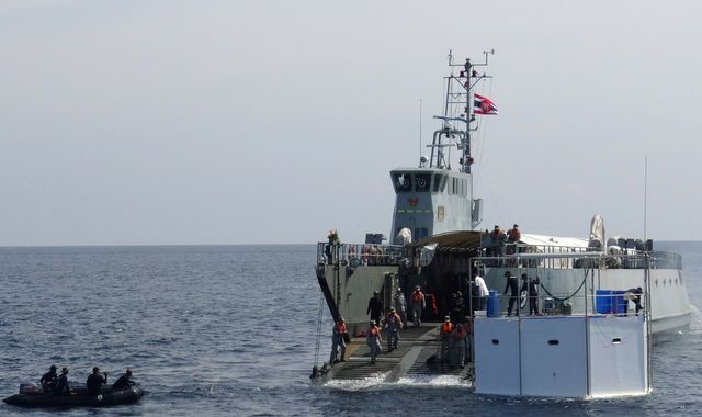Bitcoin trader's 'seastead' home towed by Thai navy