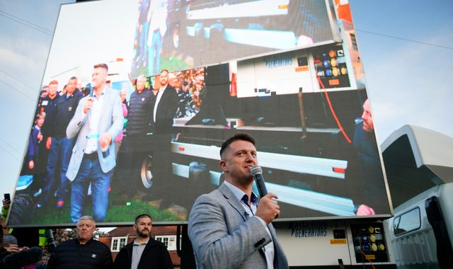 Tommy Robinson told to stop offering free burgers at election rally