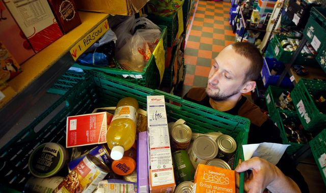Desperate Britons were given record number of food parcels in past year