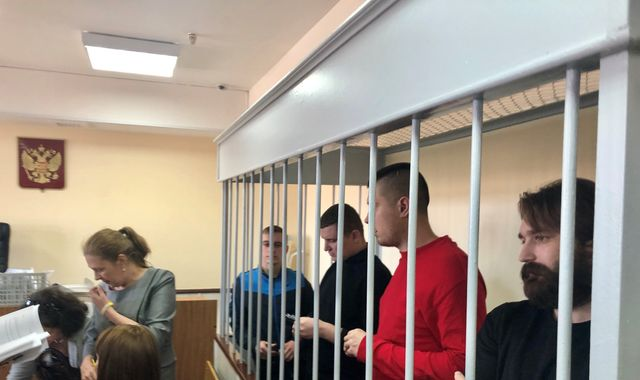 Anxious families greet 24 Ukrainian sailors in Moscow court as arguing continues