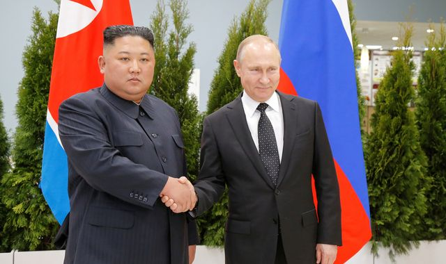 Kim Jong Un and Vladimir Putin meet for first summit in Vladivostok