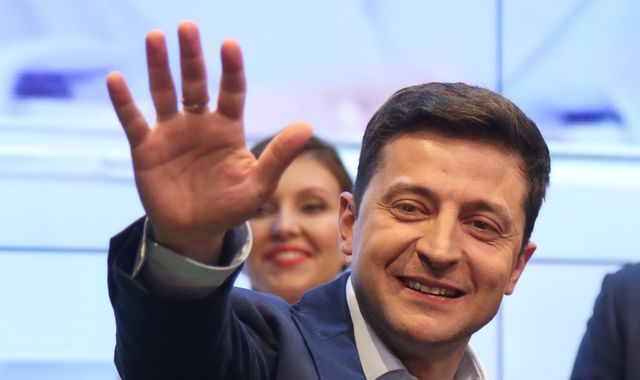 Comedian Volodymyr Zelenskiy wins Ukrainian presidential election vote
