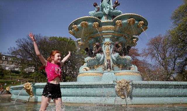 Hottest ever Easter Monday in UK - but storms on way from France