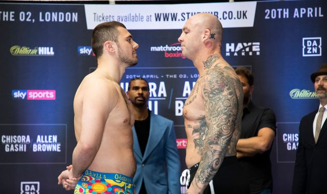Allen vs Browne: David Allen's battle with Lucas Browne tops bumper bill at The O2 live on Sky Sports