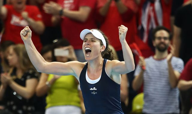Great Britain reach Fed Cup World Group II with victory over Kazakhstan