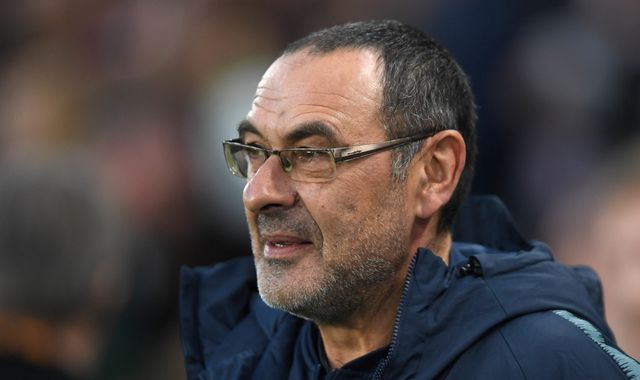 Chelsea boss Maurizio Sarri a target for Juventus and Roma