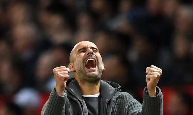 Pep Guardiola urges calm from Man City players after derby win