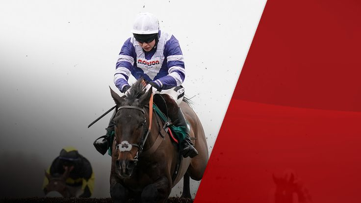 CHELTENHAM, ENGLAND - JANUARY 26: Bryony Frost riding Frodon clear the last to win BetBright Trial Cotswold Chase at Cheltenham Racecourse on January 26, 2019 in Cheltenham, England. (Photo by Alan Crowhurst/Getty Images)