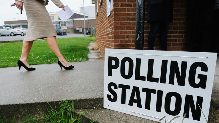 SALTBURN-BY-THE-SEA, UNITED KINGDOM - JUNE 08: A woman walks into a polling station on June 8, 2017 in Saltburn-by-the-Sea, United Kingdom. Polling stations open across the country as the United Kingdom goes to the polls to vote in the 2017 general election. (Photo by Ian Forsyth/Getty Images)