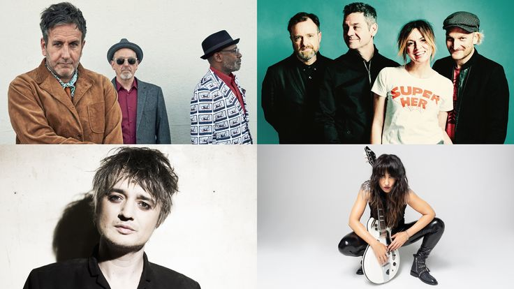 Clockwise from top left: The Specials, Sleeper, KT Tunstall, Pete Doherty