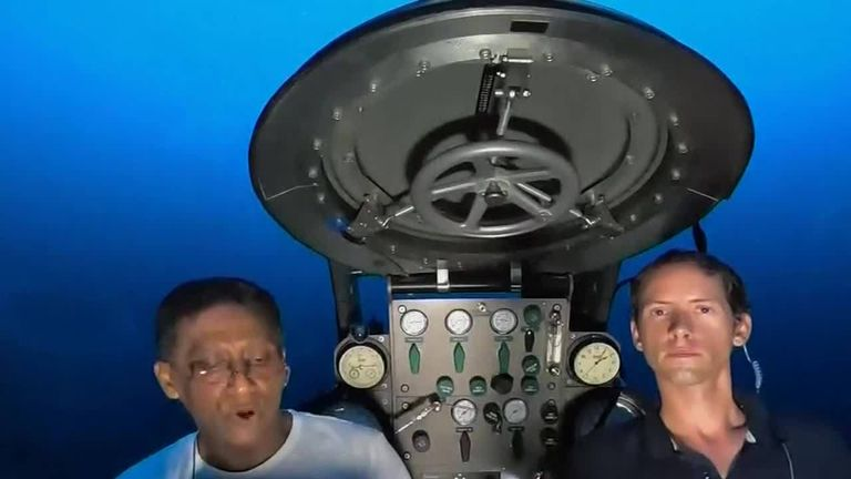 Seychelles president Danny Faure launches a global appeal to save the oceans from a submersible