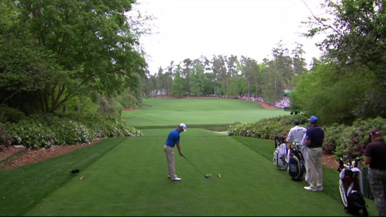 Zach Johnson Accidentally Hits Ball on Practice Swing at the Masters