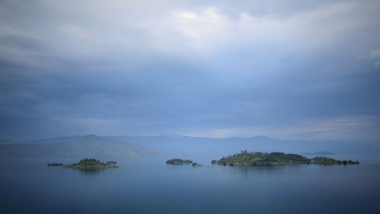 Lake Kivu in the Democratic Republic of Congo