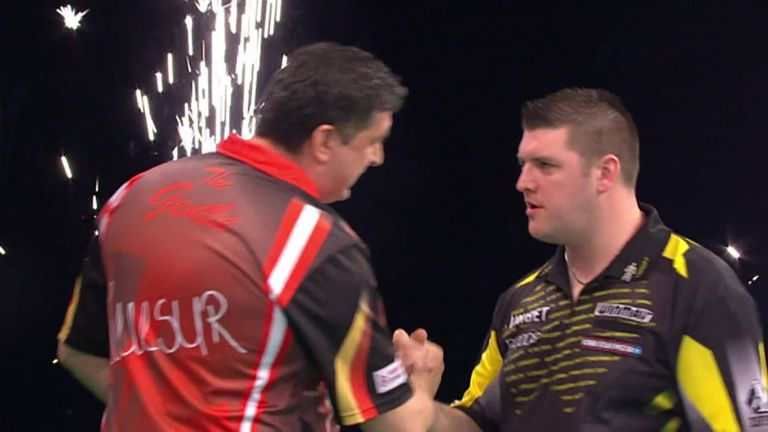 5ae57174c25b69 Premier League Darts  Michael van Gerwen back to top of table with ...