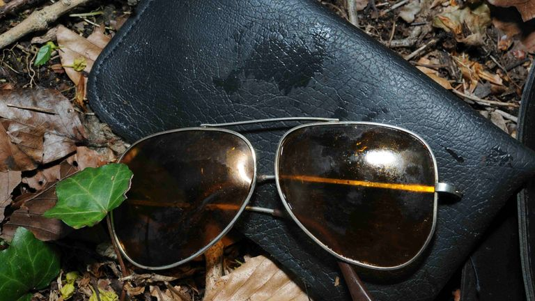 A pair of aviator sunglasses were recovered from nearby