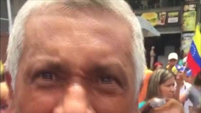 A widower's emotional, angry rant to Venezuela's president, Nicolas Maduro