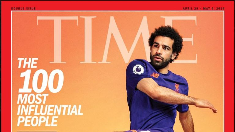 Mo Salah featured featured on one of six covers of the special issue. Pic: Time