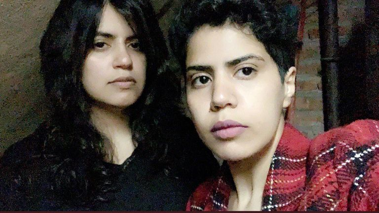 Sisters Maha al-Subaie, 28, and Wafa al-Subaie, 25, have fled Saudi Arabia and are in Georgia. Pic: @GeorgiaSisters